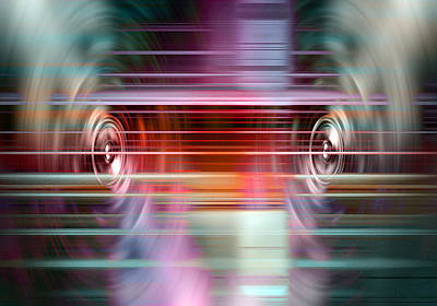 Digital Art - Audio Spin 2 by Steve Ball