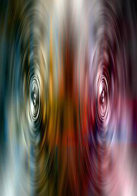 Digital Art - Audio Spin by Steve Ball