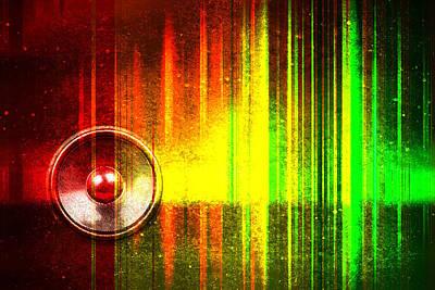 Digital Art - Audio Streak Grunge by Steve Ball