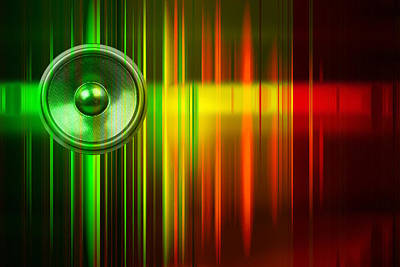 Digital Art - Audio Stripes 2 by Steve Ball