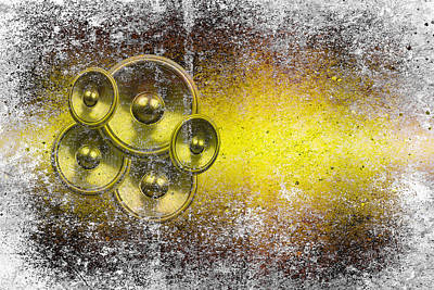 Digital Art - Audio Yellow 1 by Steve Ball
