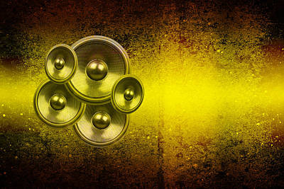 Digital Art - Audio Yellow 2 by Steve Ball