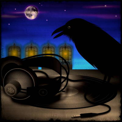 Digital Art - Audiophile Raven by Milton Thompson