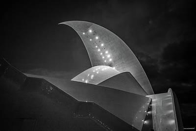 Santa Cruz Island Photograph - Auditorium At Dusk, Auditorio De by Panoramic Images