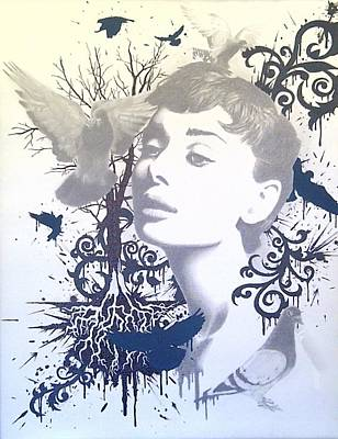 Filigree Drawing - Audrey #2 by Asev One