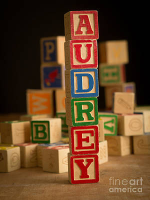 Photograph - Audrey - Alphabet Blocks by Edward Fielding