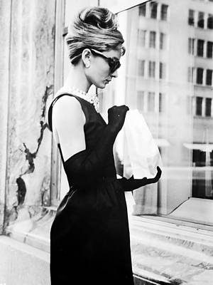 Audrey Photograph - Audrey At Tiffanys by Georgia Fowler