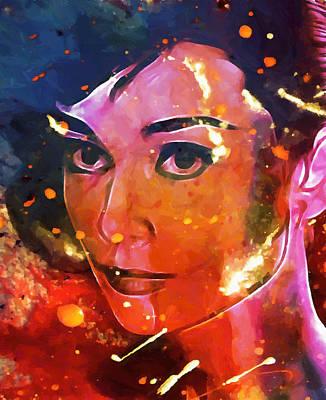 Audrey Colored My Heart Art Print by Steve K