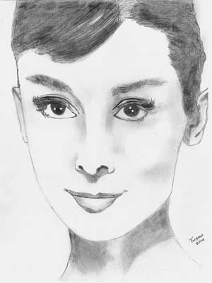 Audrey Art Print by Dan Twyman