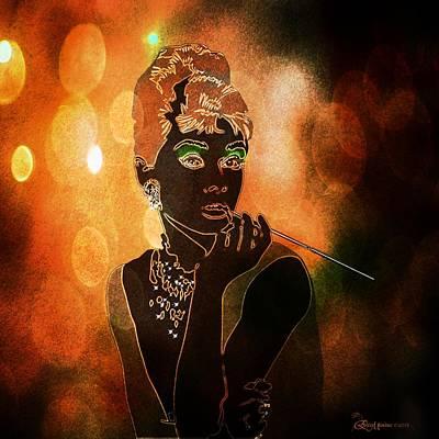 Digital Art - Audrey by Ericamaxine Price