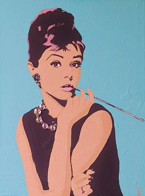Acylic Painting - Audrey by Grant  Swinney