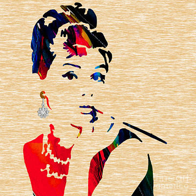 Audrey Mixed Media - Audrey Helburn Collection by Marvin Blaine