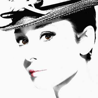 Actors Photos - Audrey Hepburn 2 by Andrew Fare