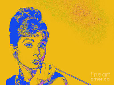 Photograph - Audrey Hepburn 20130330v2 by Wingsdomain Art and Photography