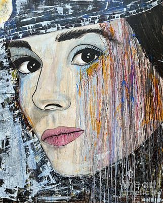 Audrey Hepburn-abstract Original by Ismeta Gruenwald