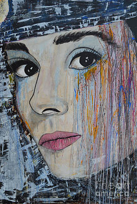 Audrey Hepburn - Abstract1 Print by Ismeta Gruenwald