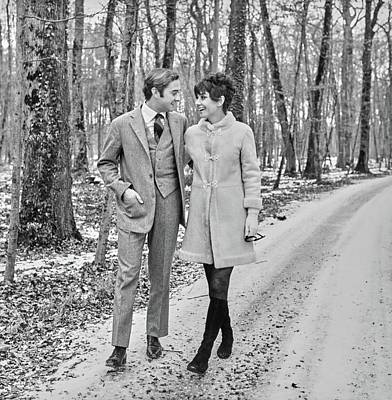 Actor Photograph - Audrey Hepburn And Dr. Andrea Mario Dotti by Henry Clarke