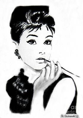 Painting - Audrey Hepburn by Anna Androsovski