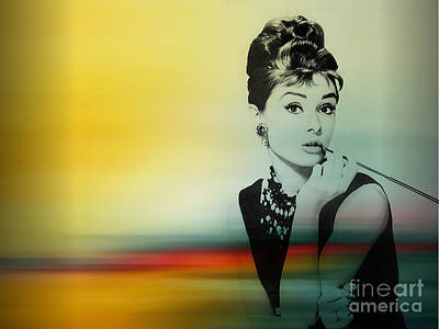 Hepburn Mixed Media - Audrey Hepburn Art by Marvin Blaine