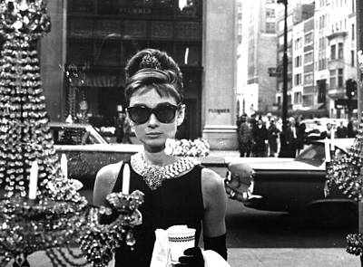 Human Being Digital Art - Audrey Hepburn Breakfast At Tiffany's by Georgia Fowler