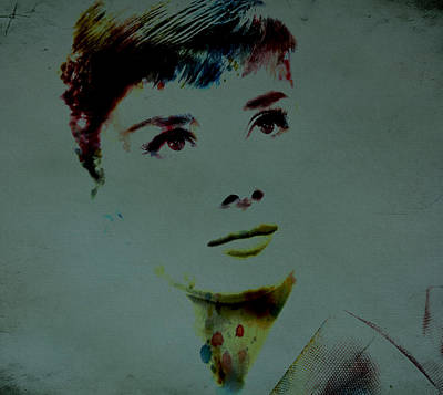 Audrey Hepburn Cultural Icon Art Print