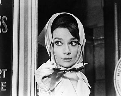 Actors Photograph - Audrey Hepburn In Charade  by Silver Screen