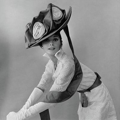 Person Photograph - Audrey Hepburn In Costume For My Fair Lady by Cecil Beaton