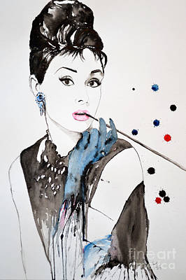 Personality Mixed Media - Audrey Hepburn by Ismeta Gruenwald