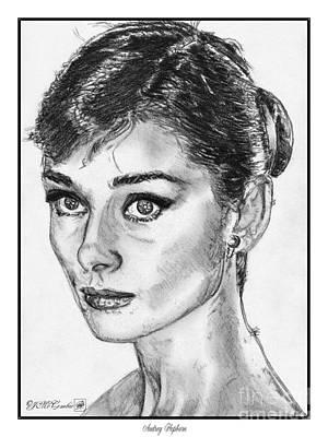 Audrey Hepburn Drawing - Audrey Hepburn by J McCombie