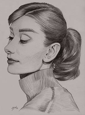 Drawing - Audrey Hepburn by Jennifer Hotai