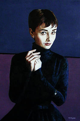 1950s Portraits Painting - Audrey Hepburn by Jo King