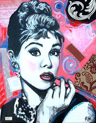 Audrey Hepburn Mixed Media - Audrey Hepburn by Katia Von Kral