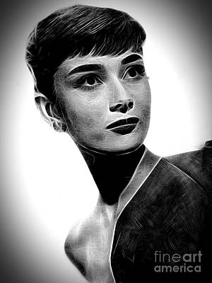 Grace Kelly Digital Art - Audrey Hepburn by Doc Braham