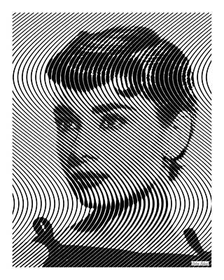 Actors Royalty-Free and Rights-Managed Images - Audrey Hepburn Op art by Celso Maria