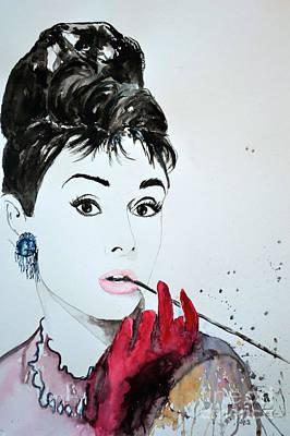 Painting - Audrey Hepburn - Original by Ismeta Gruenwald