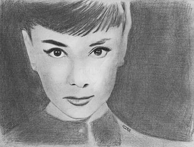 Drawing - Audrey Hepburn by Pat Moore