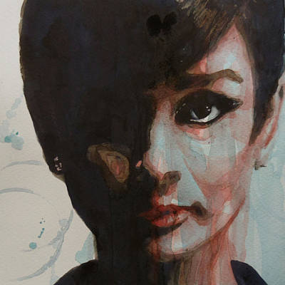 At Poster Painting - Audrey Hepburn  by Paul Lovering