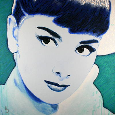 Painting - Audrey Hepburn Pop Art Painting by Bob Baker