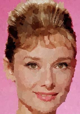 Painting - Audrey Hepburn Portrait by Samuel Majcen