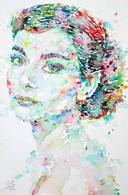 Audrey Hepburn  Watercolor Portrait.2 Original