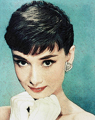 Tiffany Digital Art - Audrey Hepburn by Taylan Apukovska