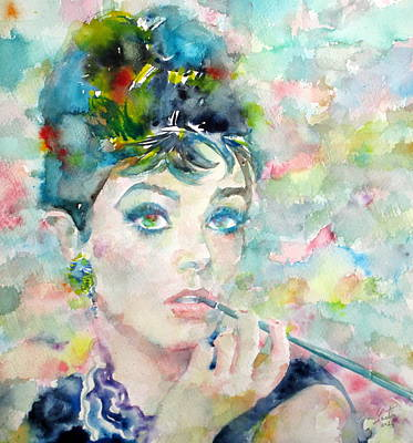 Audrey Hepburn - Watercolor Portrait.7 Original
