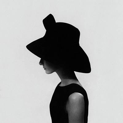 Headgear Photograph - Audrey Hepburn Wearing A Givenchy Hat by Cecil Beaton