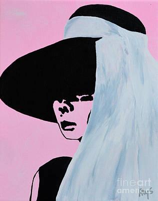 Audrey Hepburn Wears A Hat Art Print by Alys Caviness-Gober