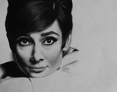 Audrey Hepburn Drawing - Audrey by Samantha Howell