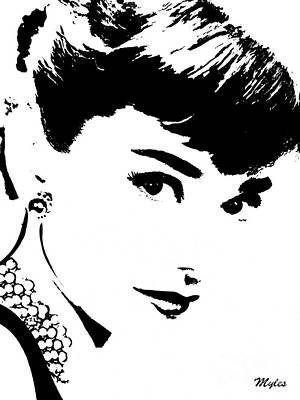 Painting - Audrey So Lovely by Saundra Myles