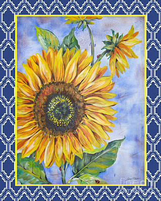 Audrey's Sunflower With Boarder Original