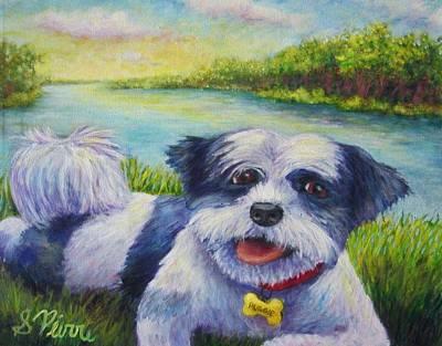 Painting - Auggie by Sebastian Pierre