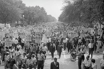 Discrimination Photograph - August 28, 1963 - A Large Group by Stocktrek Images