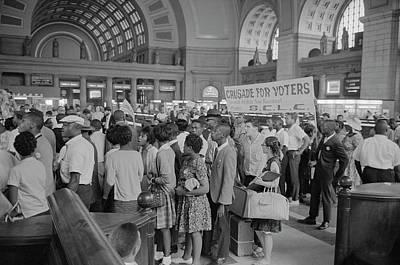 August 28, 1963 - Marchers Arriving Art Print